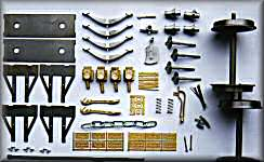 LNWR wagon kit parts